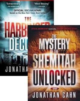 The Mystery Of The Shemitah Unlocked and The Harbinger Decoded 2 DVD Set Presented by Jonathan Cahn