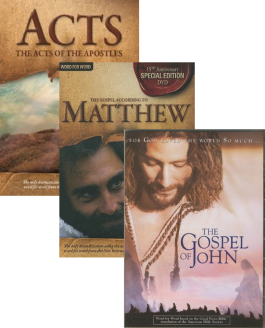 Visual Bible 3 DVD Set: Acts, Matthew, John