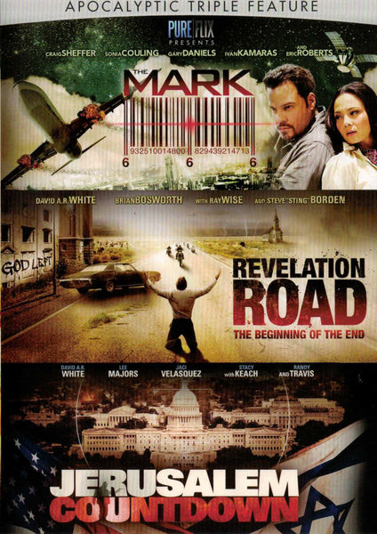 Apocalyptic Triple Feature - The Mark | Revelation Road | Jerusalem Countdown - DVD