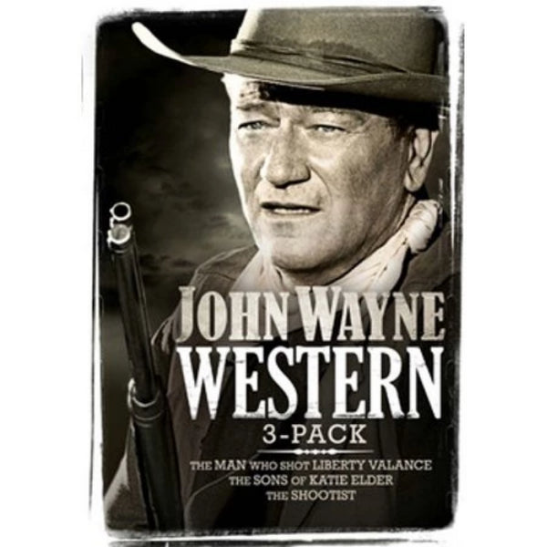 John Wayne 3-Pack The Man that shot Liberty Valance, The Sons Of Katie Elder, The Shootist