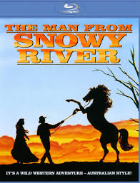 The Man from Snowy River Man Woman Horse sunset