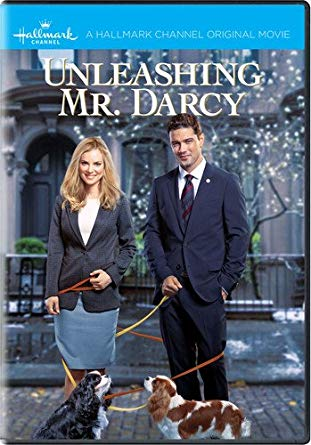Unleashing Mr. Darcy DVD Film Two Dogs a woman and Man in the street