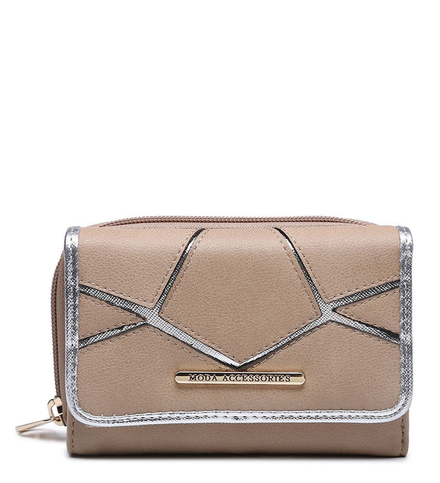 Silver Highlight Purse - Camel - Accessories 4 You