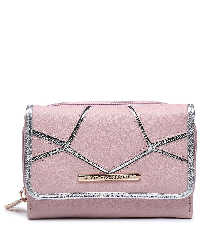 Silver Highlight Purse - Pink - Accessories 4 You