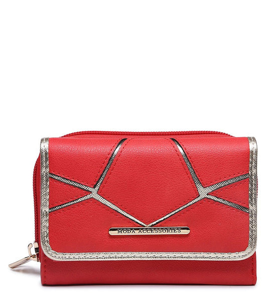 Silver Highlight Purse - Red - Accessories 4 You