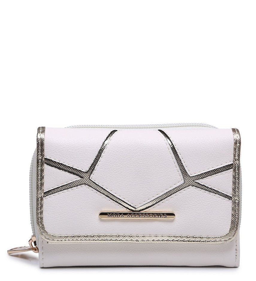 Silver Highlight Purse - White - Accessories 4 You
