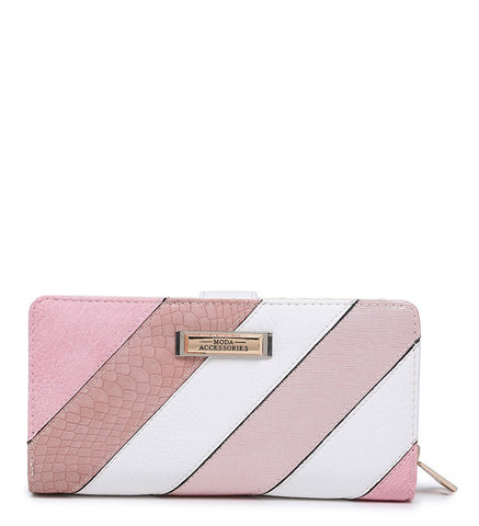 Striped Purse - Pink - Accessories 4 You