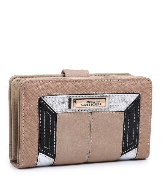 Coloured Border Purse - Camel - Accessories 4 You