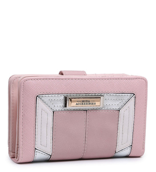 Coloured Border Purse - Pink - Accessories 4 You