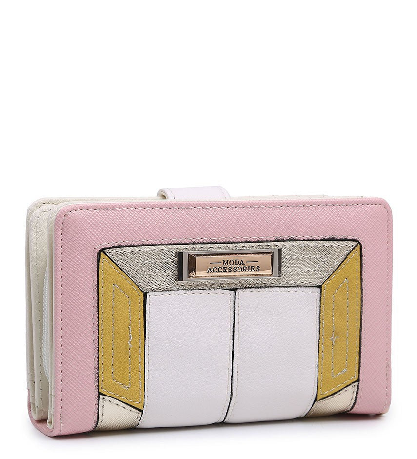 Coloured Border Purse - White - Accessories 4 You