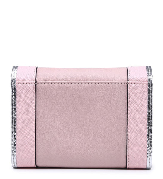 Silver Edged Purse - Pink