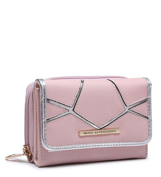 Silver Highlight Purse - White