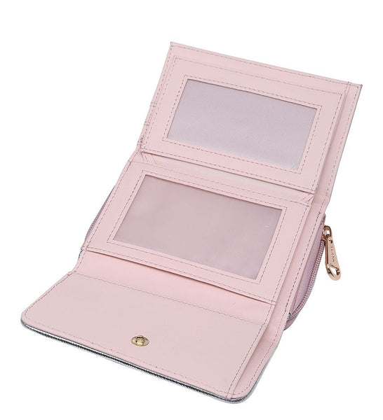 Silver Highlight Purse - Pink