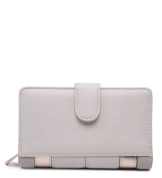 Coloured Border Purse - Pink