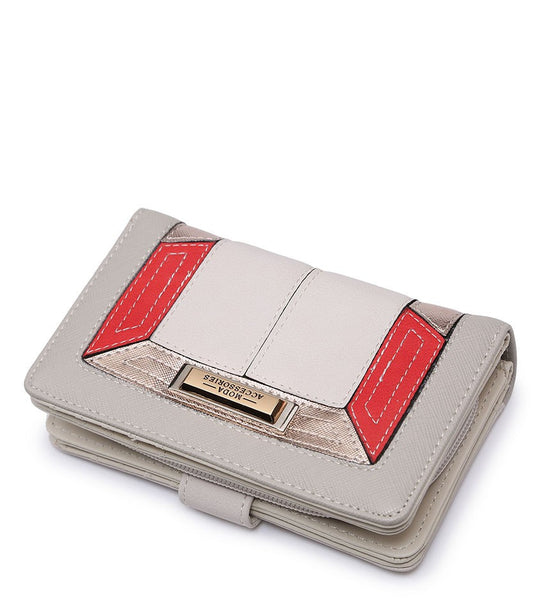 Coloured Border Purse - Red