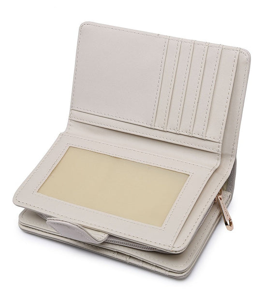 Coloured Border Purse - White