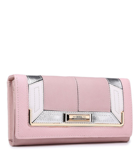 Gold Effect Detailing Purse - White