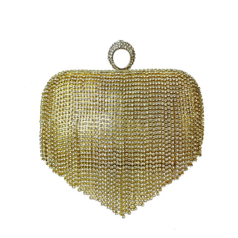 Tassel Evening Bag - Gold - Accessories 4 You
