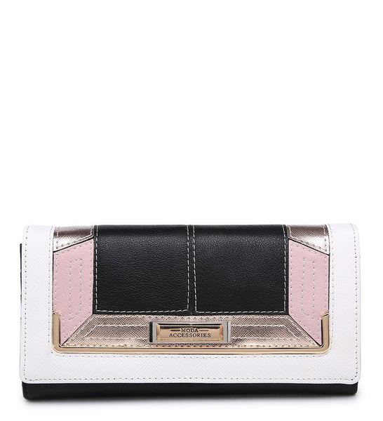 Gold Effect Detailing Purse - Black - Accessories 4 You