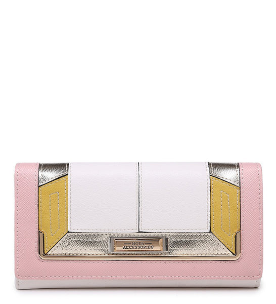 Gold Effect Detailing Purse - White - Accessories 4 You