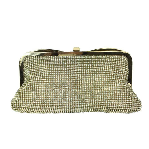 Bejewelled Evening Bag - Gold - Accessories 4 You