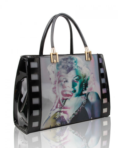 Marilyn Monroe 3D Three Photos Hologram Handbag or Shoulder Bag - Black - Accessories 4 You