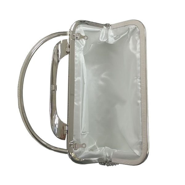 Two Handled Evening Bag - Silver