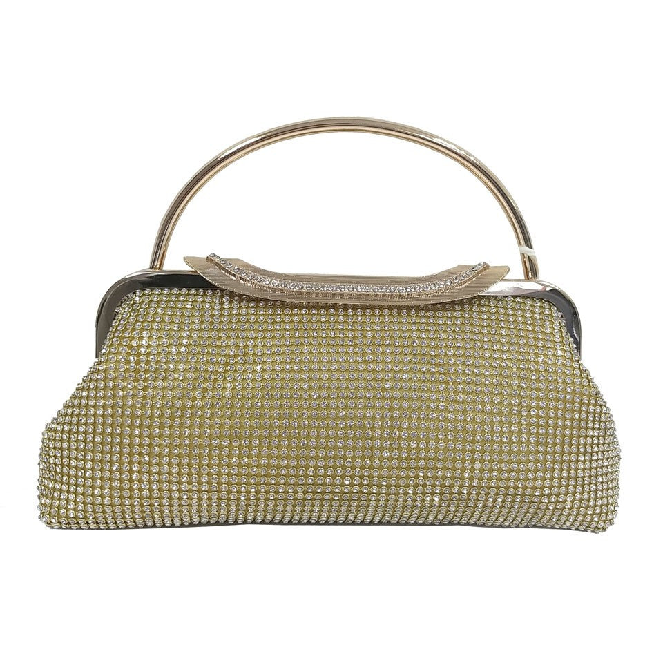Two Handled Evening Bag - Gold - Accessories 4 You