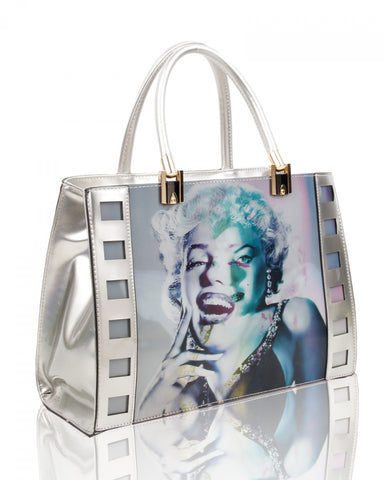 Marilyn Monroe 3D Three Photos Hologram Handbag or Shoulder Bag - Silver - Accessories 4 You