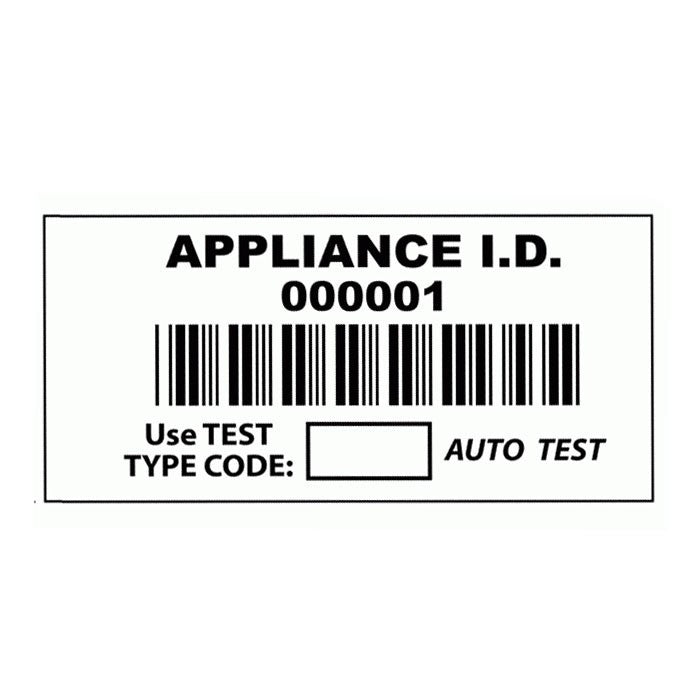 Barcode Appliance ID Label