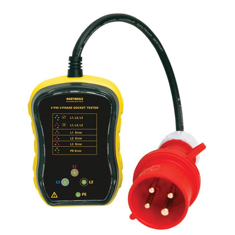 Martindale PC104 32A 3-Phase Socket Tester