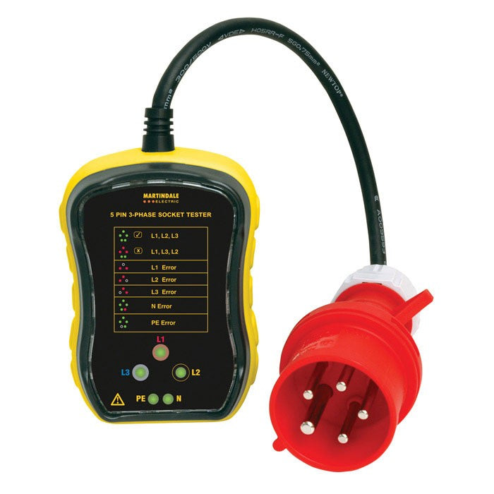 Martindale PC105 32A Three-Phase Socket Tester