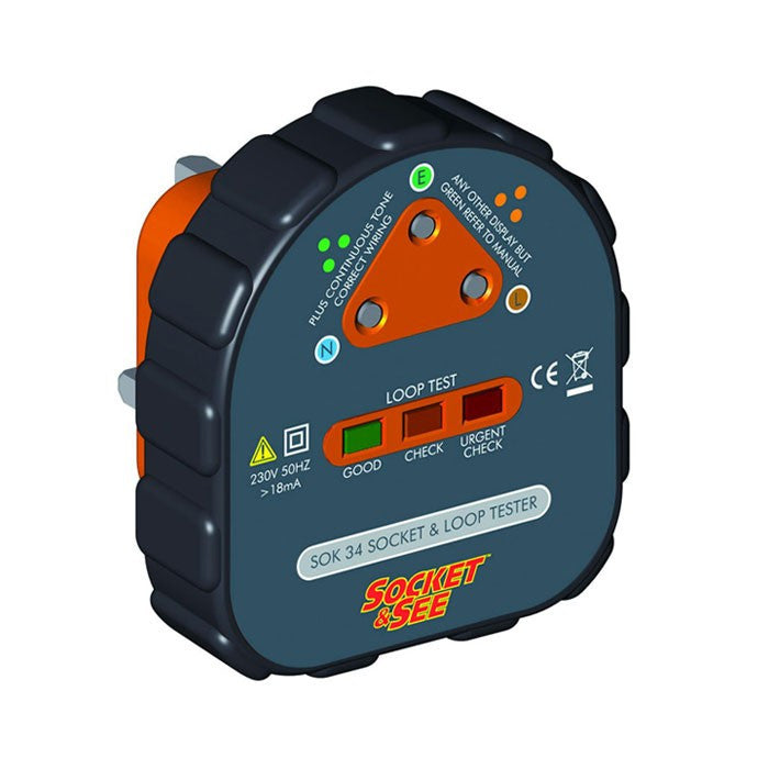 Socket & See SOK34 Earth Loop Socket Tester