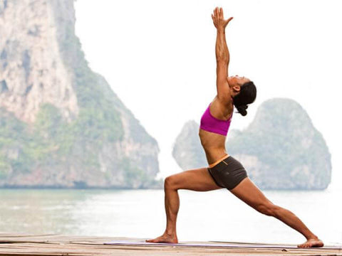 release tension in posas major with warrior pose