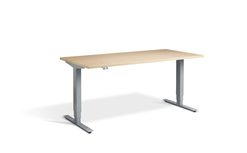 SitStand Dual Motor Standing Desk - Silver Frame