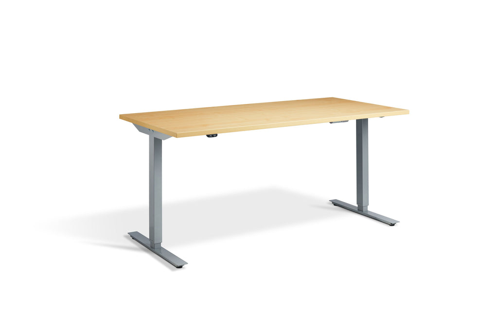 SitStand Core Electric Standing Desk - Silver Frame