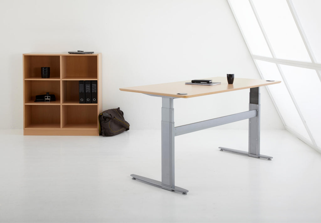 Beech Standing Desk in Office | Sit Stand