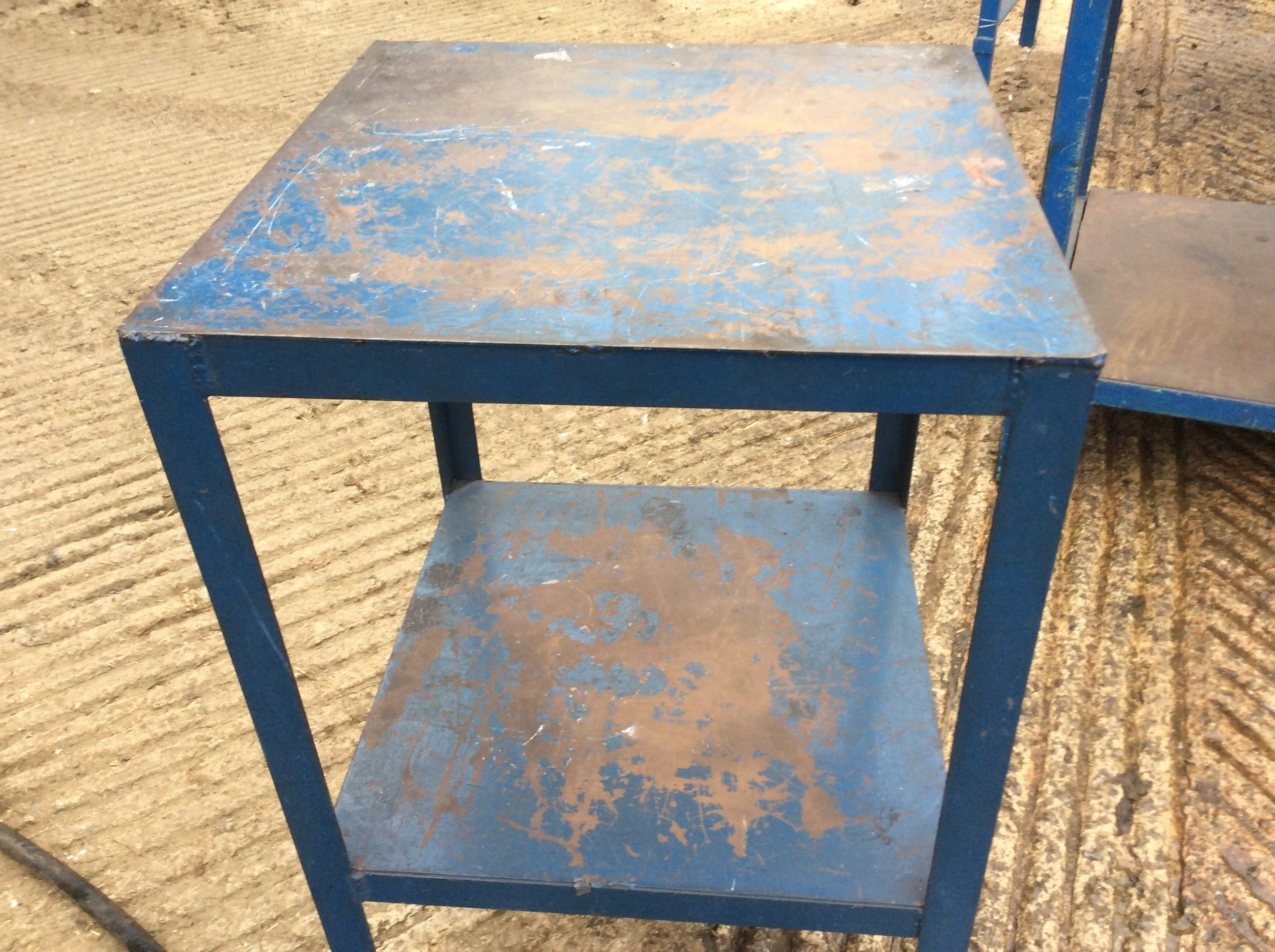 Selection of metal work benches
