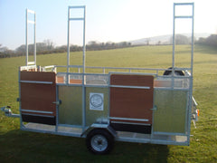 Mobile 3 stand shearing and handling trailer