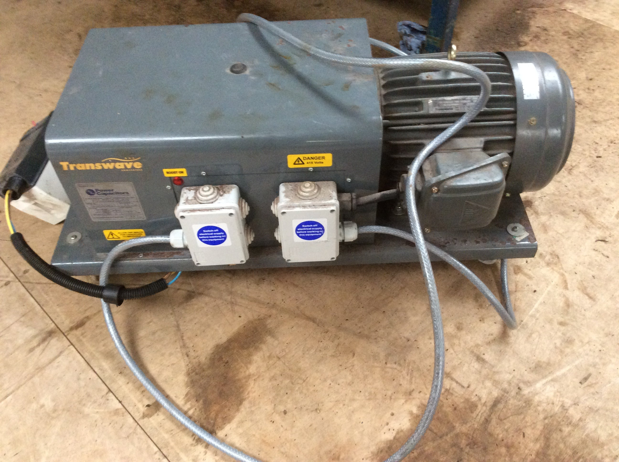 Single / 3 phase rotary transwave convertor 7.5hp