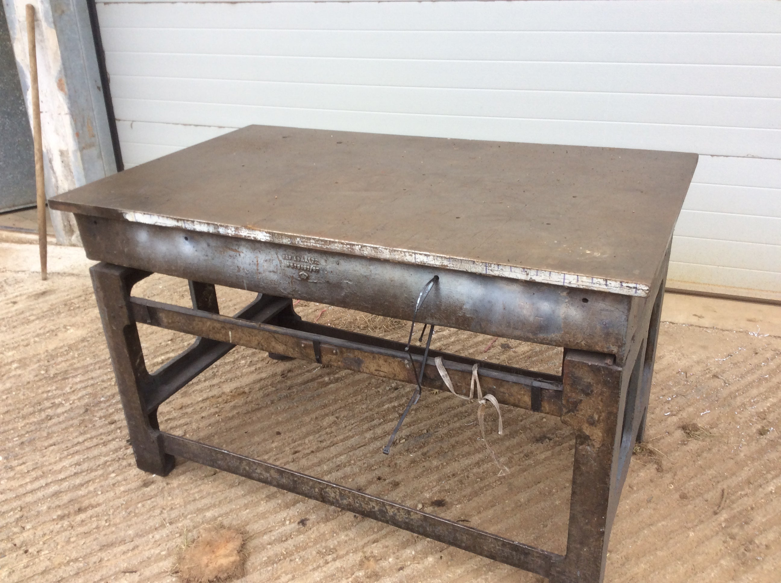 Cast Iron Setting Out Table
