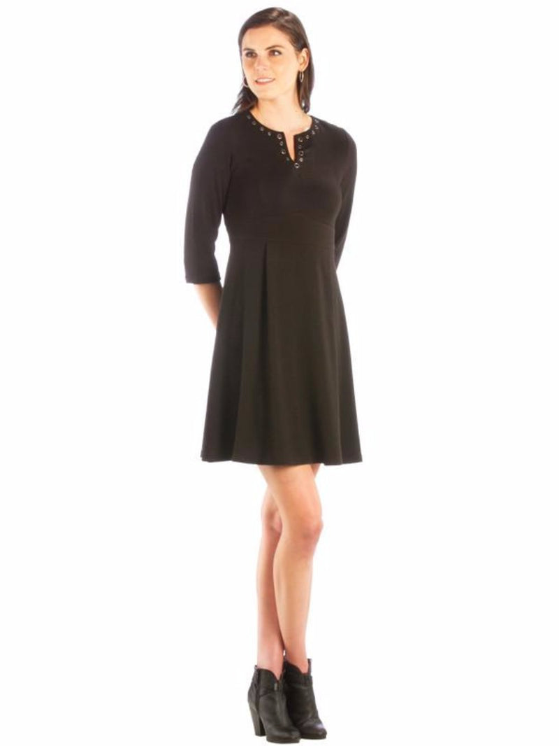 Grommet Neckline Dress