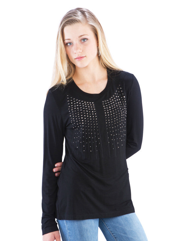 Studded Top w/ Stitching