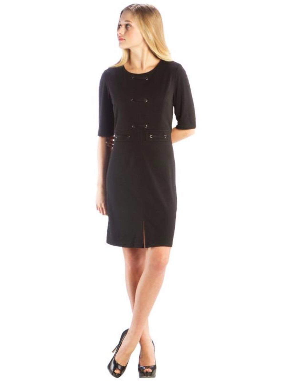 Laced Grommet Dress