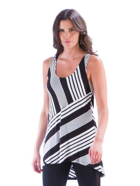 Striped Panel Tunic