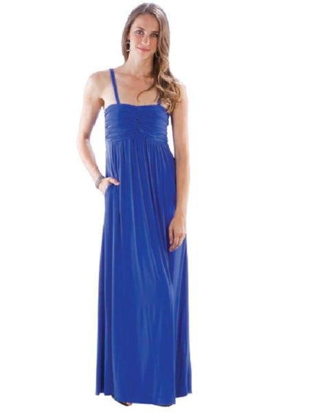 Looped Bodice Maxi Dress