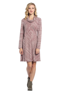Diamond Space Dye Cowl Neck Dress