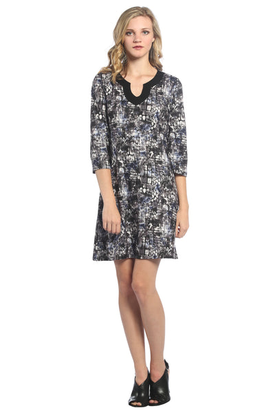 Jellabah V Neck Shift Dress