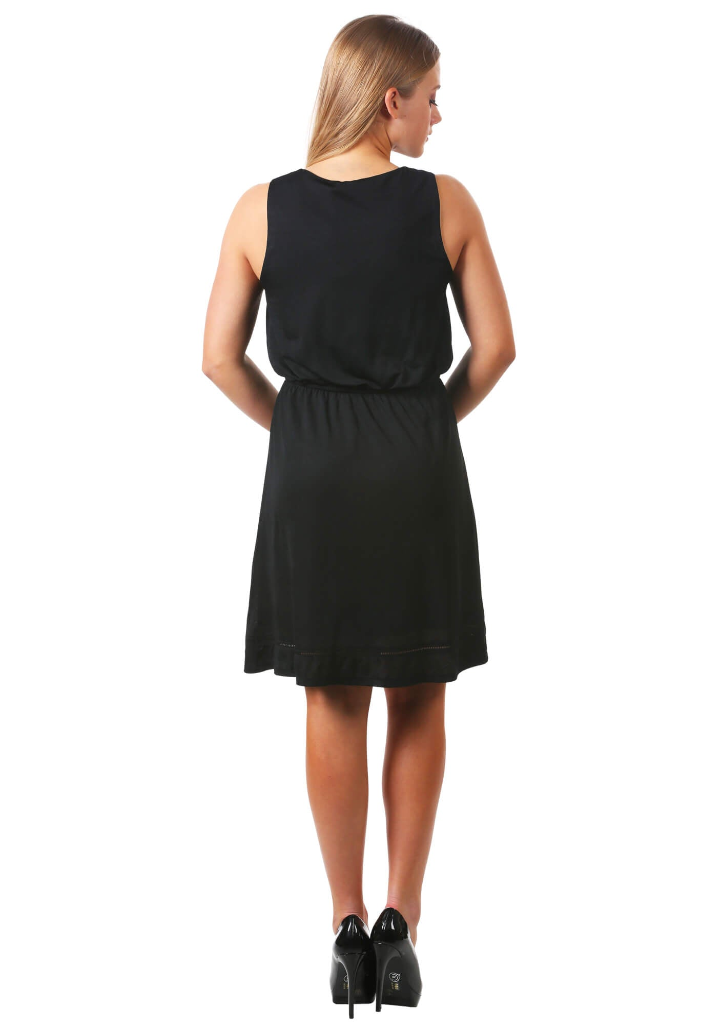 V-Neck Open Trim Dress