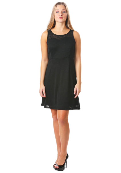 Gauze Fit and Flare Dress | Little Black Dress